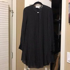 A.L.C. Silk Polka Dot Dress Size 8